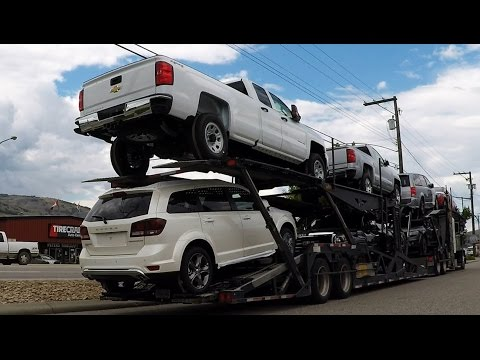 AUTO TRANSPORT CARRIER #05 -- Dodge, GM, GMC.  Real-Time Unload: 38 Min.