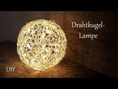 DIY | Drahtkugellampe | Dekolampe Für Innen Und Außen | Ganzjahresdeko | Just Deko