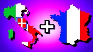 Italy + France = Italian-Franco Union! | Hearts of Iron 4 [HOI4]