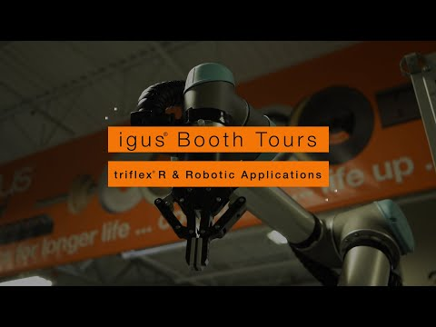igus® Booth Tours - triflex® R & Robotic Applications