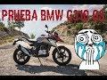 Prueba BMW G 310 GS. Un cono probando la mini GS!