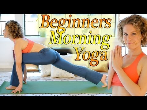 Complete Beginners Morning Yoga Workout For Energy, Sun Salutations Flow & Flexibility Stretches