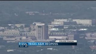 A&M reopened after bomb threat, search