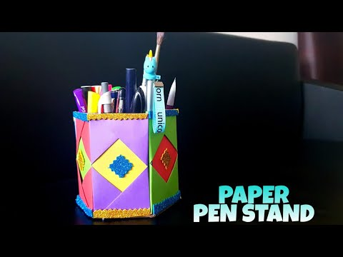 Origami Paper Pen Stand - DIY paper craft