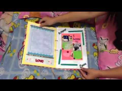 Scrapbook for my boyfriend happy st monthsary iloveyou youtube
