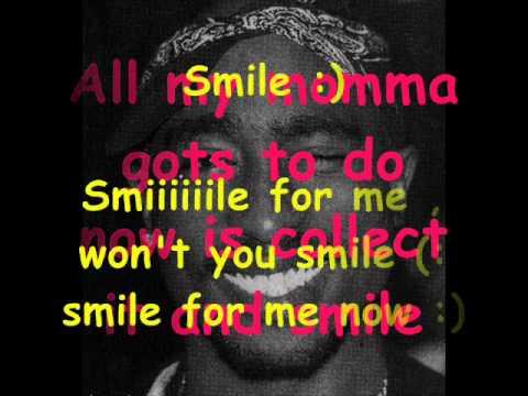 Tupac Shakur feat scarface: Smile (lyrics)