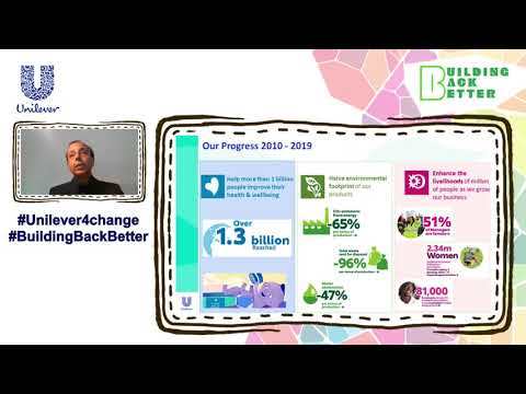 Sanjiv Kakkar at the 2021 Annual Unilever Sustainable living Event
