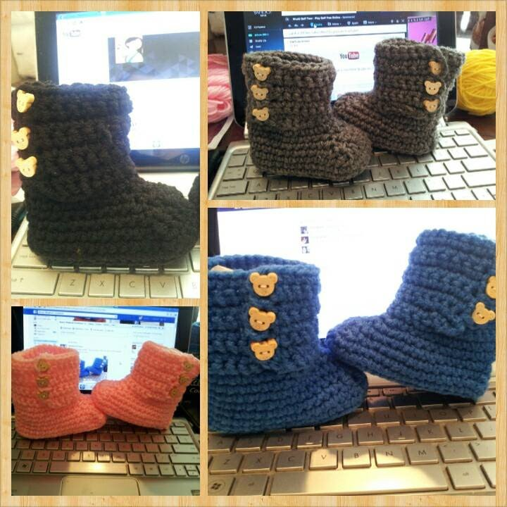 Tutorial How To Crochet Baby Ugg Boots Youtube