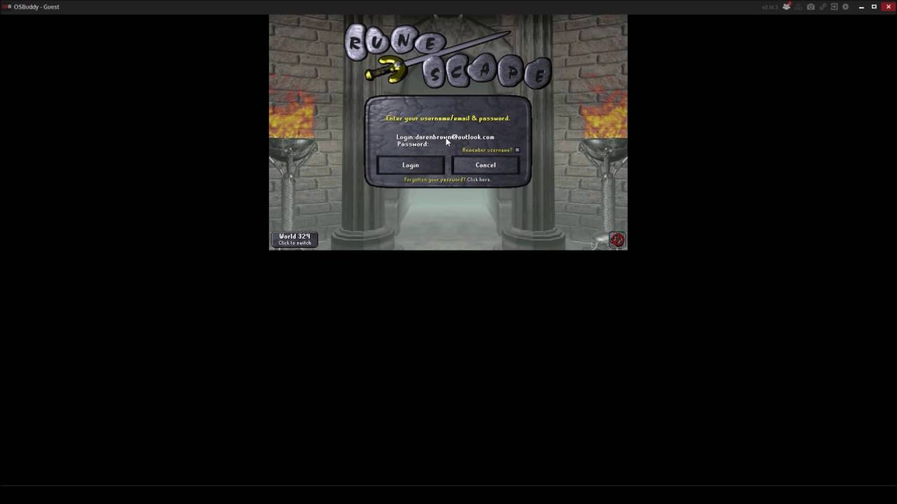 How To Log In To Osrs Runescape 2007 Account Youtube