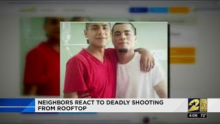 Neighbors react to deadly shooting from rooftop