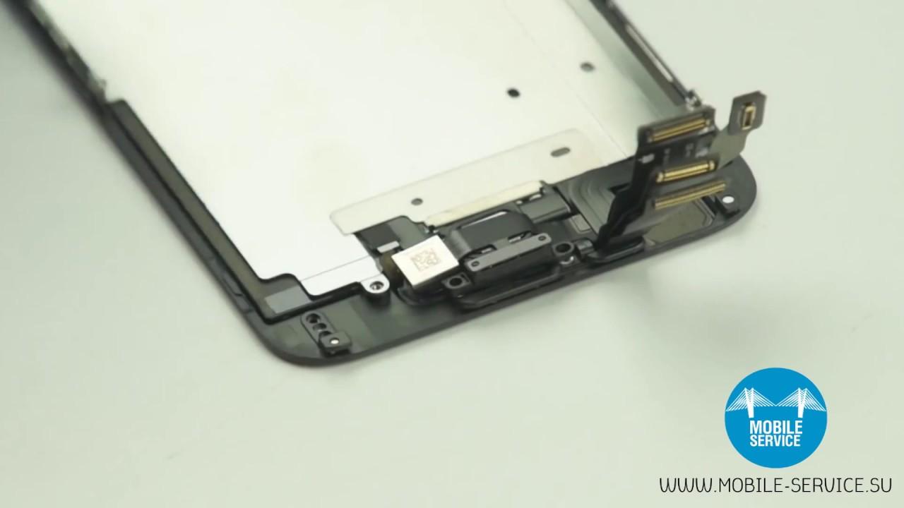 замена стекла на iphone 6 видео