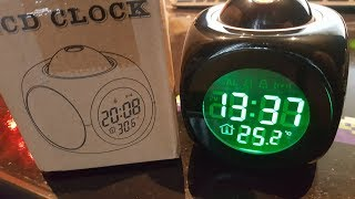 Making a cheap Alarm Clock with LED Projector a bit more useful