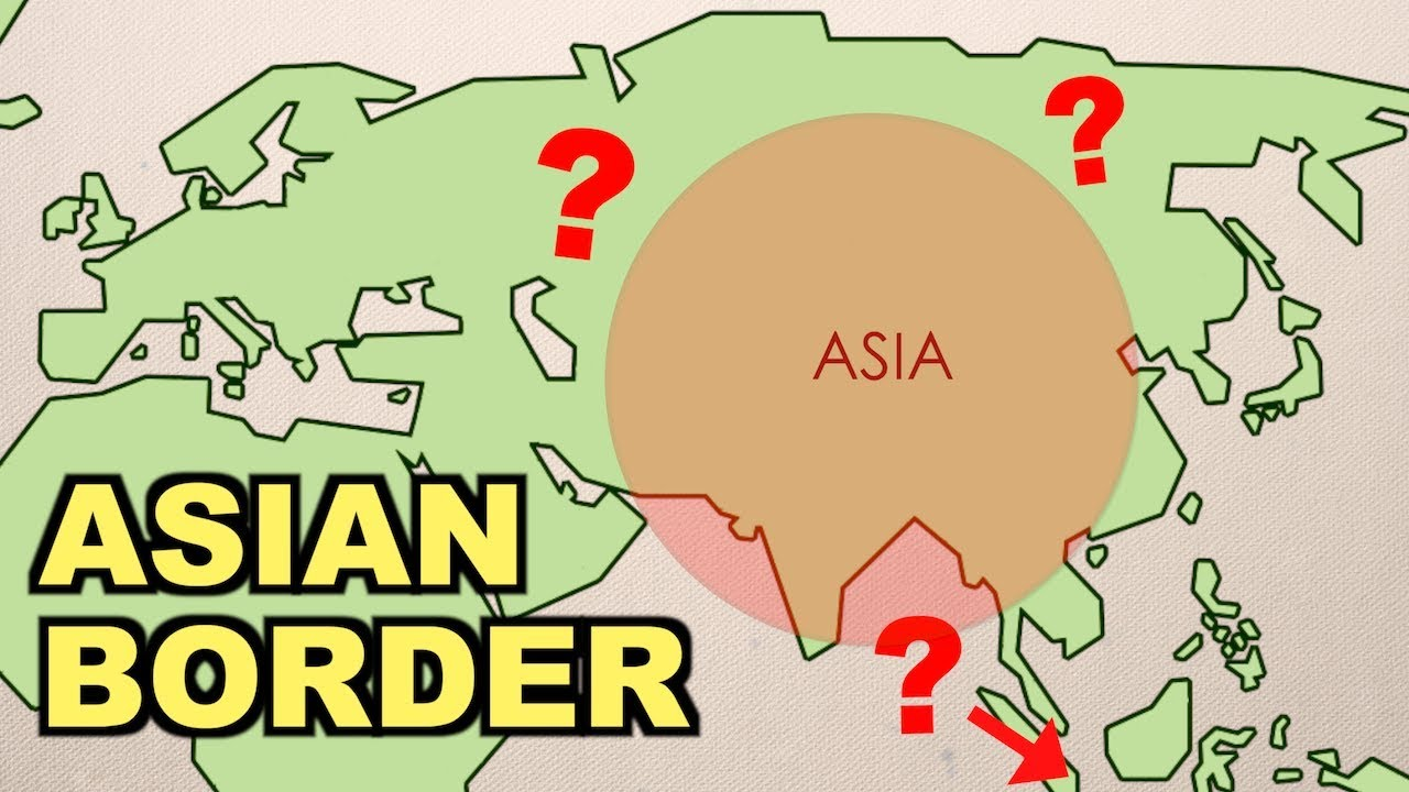 Boundary Map Of Asia.Where Are The Asian Borders
