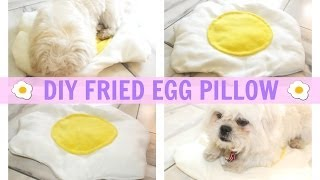 DIY Room Decor ♥ Fried Egg Pillow (No Sew)  • heartcindy Thumbnail