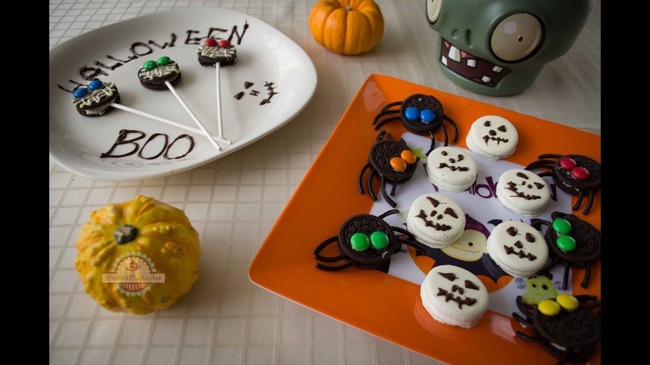 Ideas para halloween con galletas oreo cocinar con ni os youtube - Ideas para cocinar ...