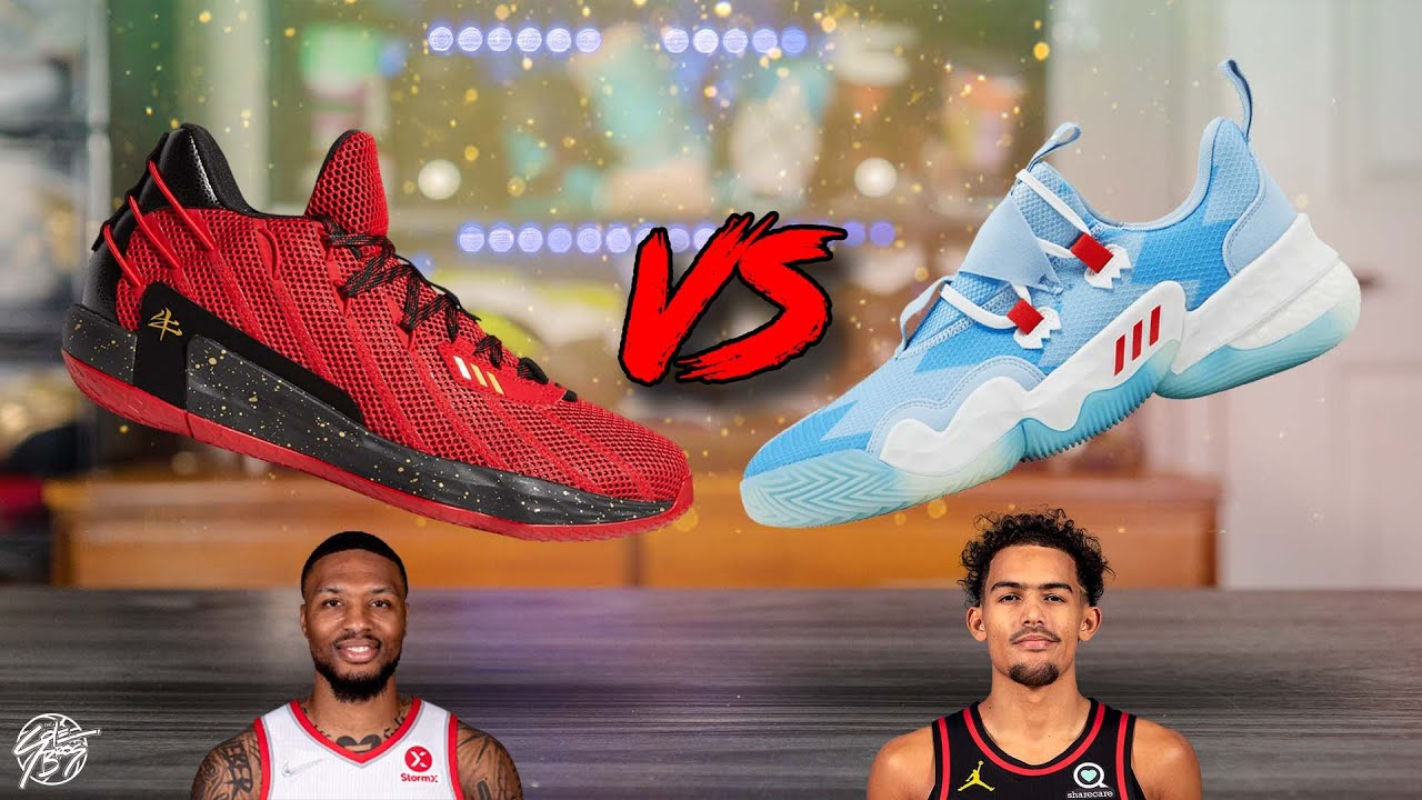Download Adidas Dame 7 EXT vs Adidas Trae Young 1!
