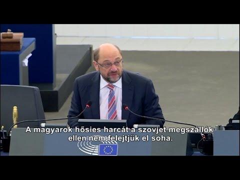 Az EP elnöke megemlékezett 1956-ról