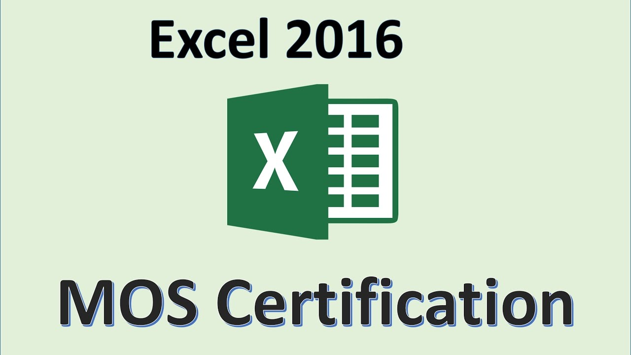 Excel 2016 mos exam certification microsoft office specialist excel 2016 mos exam certification microsoft office specialist test practice training xflitez Image collections