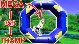 BIGGEST TRAMPOLINE BACKFLIP!!