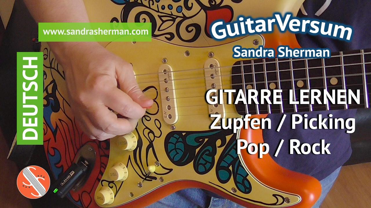 Gitarre Lernen Zupfen Picking Rockgitarre Zupfmuster Lernen Youtube