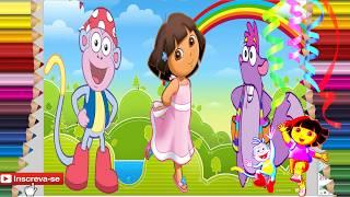Dora e Seus Amigos  -  Descubra Quem Está por Trás da Imagem!
