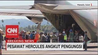 245 Pengungsi Menumpang Pesawat Hercules menuju Manado   Pascagempa & Tsunami Sulteng