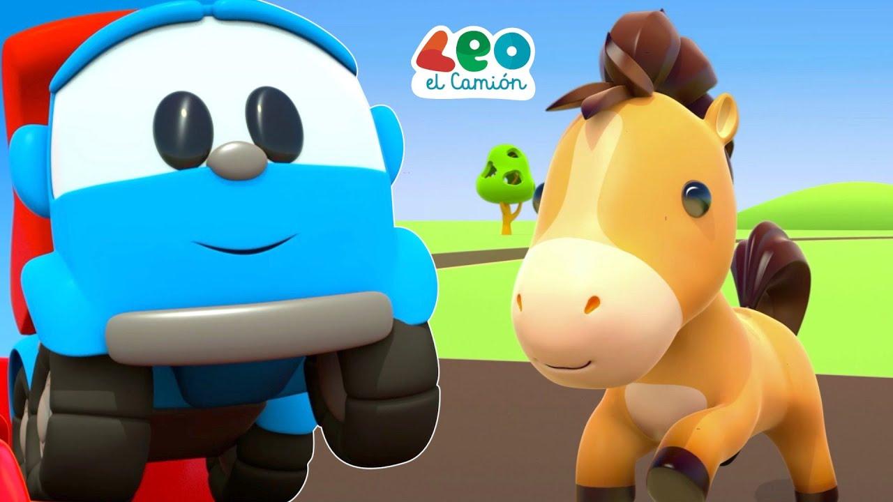 Leo el Camión Canciones Infantiles - Caballitos Infantiles - Leo y el Caballo