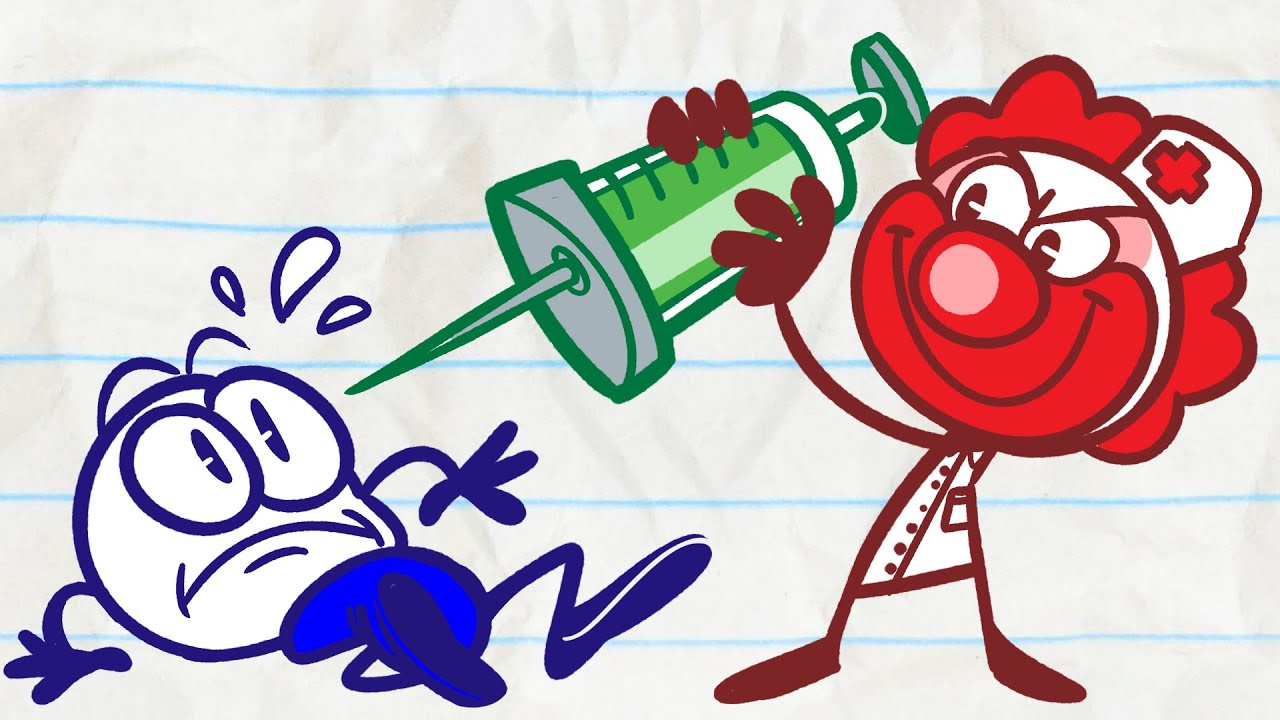 pencilmate-needs-therapy-in-system-of-a-clown-pencilmation-cartoons-for-kids