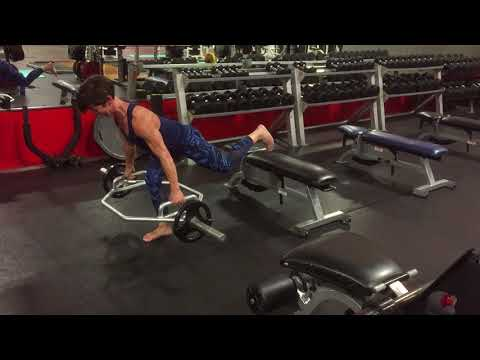 Trap Bar Single Leg RDL With Eccentric Isometric