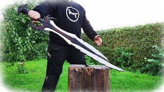 Making The Deadric Greatsword From The Game Skyrim (Aluminum Casting)