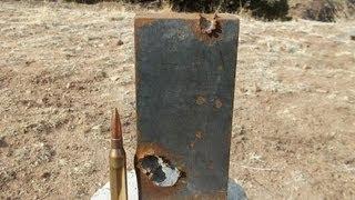 """Savage 110 BA 338 Lapua Magnum vs 1"""" Steel !!"""