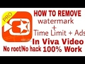 How to remove viva video editor watermark (get pro version free)