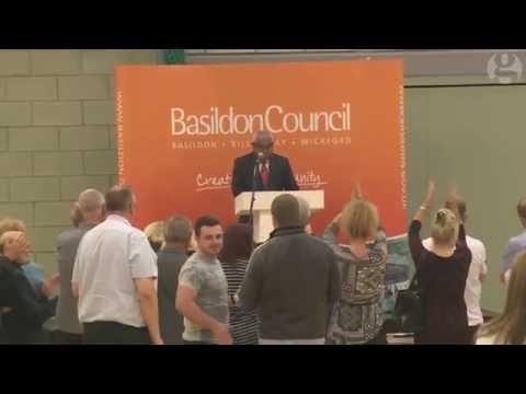 Basildon votes to leave –video