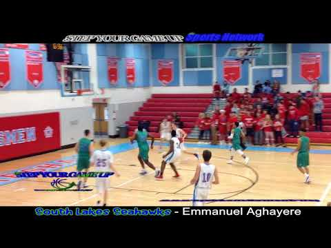 South Lakes' Emmanuel Aghayere's 2-hand SMACK BACKBOARD FOR EMPHASIS & block leading 2 lay!