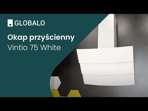 Okap przyścienny GLOBALO Vintio 75.2 White | Ciche i wydajne okapy GLOBALO