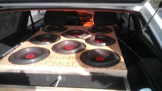 Ваз 2113 г Полтава. Subwoofer Music BASS (сабвуфер) рвет и разрывает 9 кВт