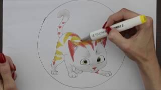 Рисунок  Кот Гром. Рыжий кот. (Рисунок 16)