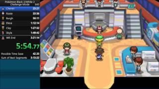 Pokemon White 2 Challenge Mode Speedrun in 3:19:12 [Current World Record]