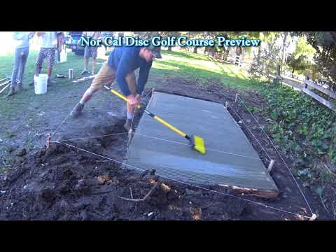 Hillcrest Disc Golf Course Concord Ca Tee Pad Work Party NCDGCP #30