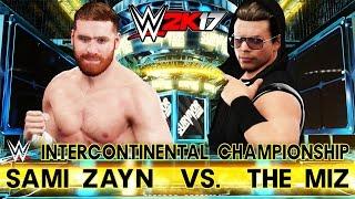 SAMI ZAYN VS THE MIZ - CHAMPIONSHIP MATCH: WWE SURVIVOR SERIES 2016 FULL MATCH (WWE 2K17 Simulation)