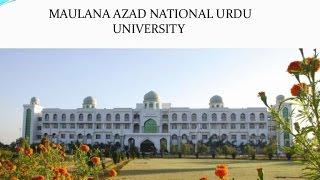 MANUU Tarana (Anthem of Maulana Azad National Urdu University) Complete Anthem