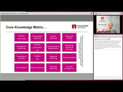 Postgraduate Accounting: your options webinar -  May 2017
