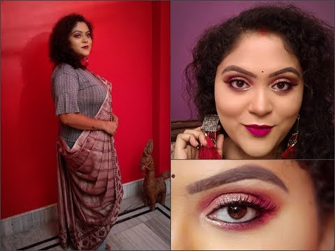 FABULOUS 5 / Durga Puja Special : SOSHTHI LOOK/ Sneha MUA