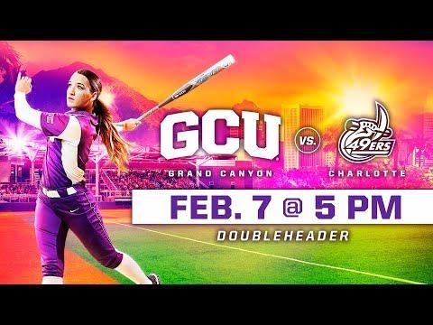 GCU Softball vs  Charlotte (DH Game 1) Feb 7, 2019