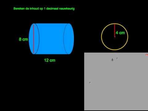 Wiskunde inhoud cilinder af from YouTube · Duration:  1 minutes 6 seconds