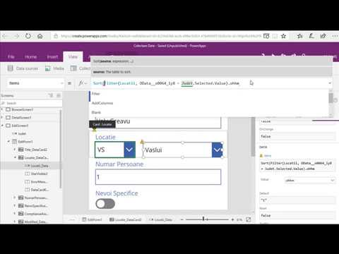 PowerApps Linked/Filtered DropDowns (3)