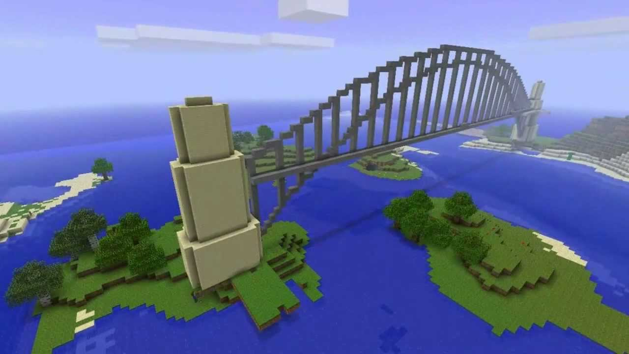 Minecraft Sydney Harbour Bridge Megabuild YouTube