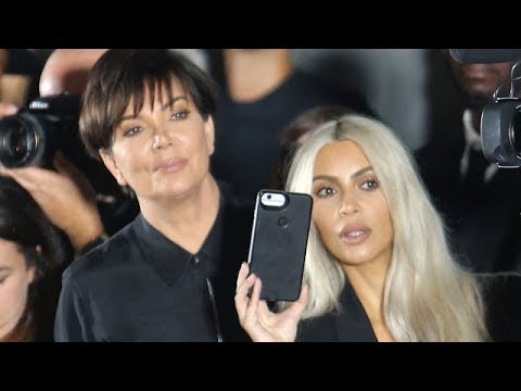 Kim Kardashian And Kris Jenner Loving The Alexander Wang Show In New York