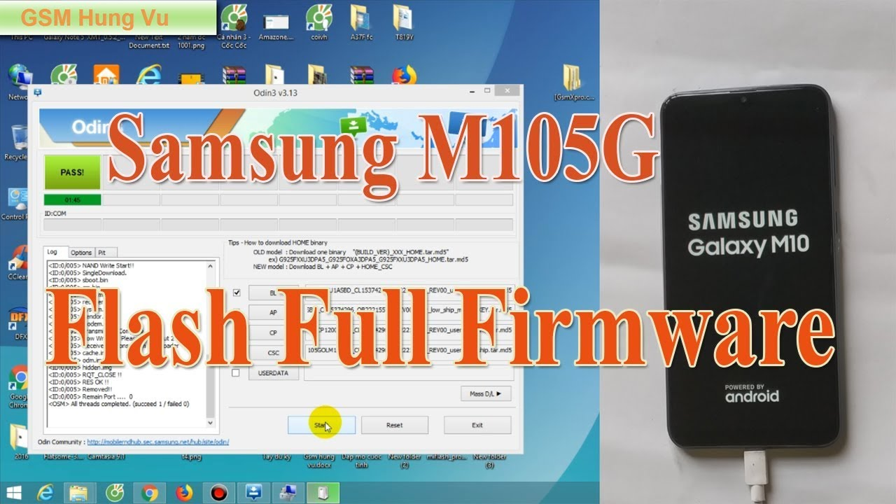 Flash Firmware M105g Samsung M10 Android 8 1 by Odin v3 13 1