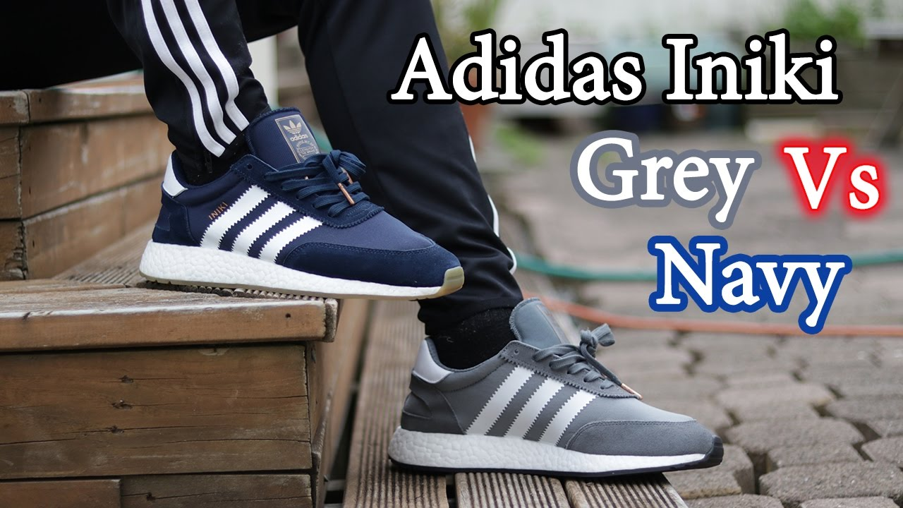 more photos 3d379 c249c Grey vs Navy Adidas Iniki Runner Boost w  On-Feet   On-Body!